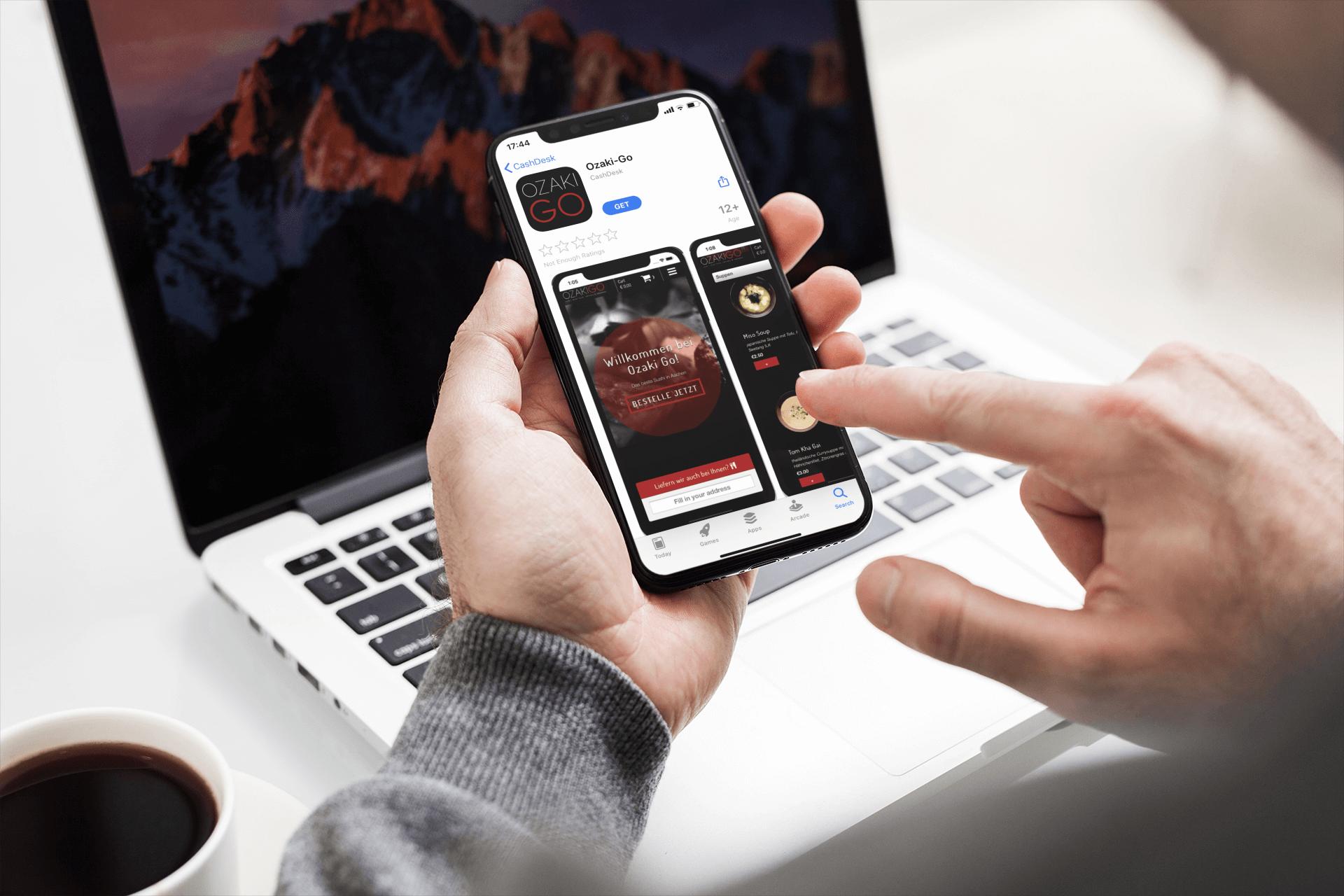 Bestellen via een gebruiksvriendelijke app